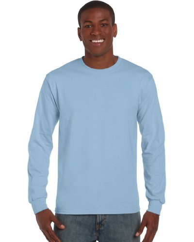 GILDANHerren T-Shirt Blau - Light Blue