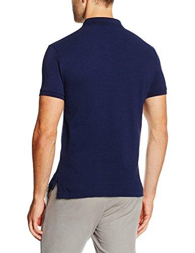 Polo Ralph Lauren Herren Poloshirt Ss Kc Slim Fit Polo Ppc Blau (NEWPORT NAVY A413B)
