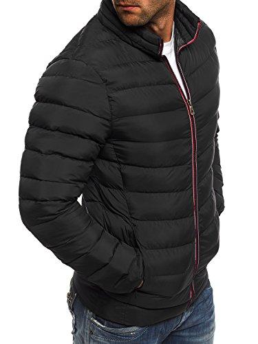 OZONEE Herren Winterjacke Steppjacke Sweatjacke Wärmejacke Jacke Parka Gesteppt J.BOYZ X1008K Schwarz_JB-1010K_KU