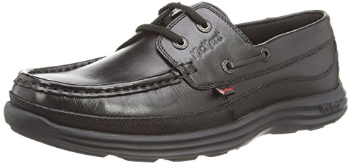 Kickers Reasan Boat Lthr Am, Chaussures bateau Homme Noir (Black)
