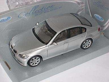 BMW 3er 3 Er 330i 330 i 2006 Silber E90 E 90 Limousi Metallmodell 1/24 Welly Modellauto Modell Auto