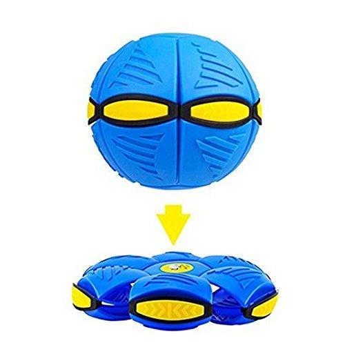 all mit LED-Licht UFO Flat Throw Disc Ball Spielzeug Geburtstag Weihnachtsgeschenk für Kinder Baby Kids Blau (Flying Disc Spielzeug)