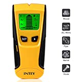 INTEY Detector de Pared con Pantalla LCD para Detecta AC Cable, Azulejos, Metal Tuberías Madera y AC Cable