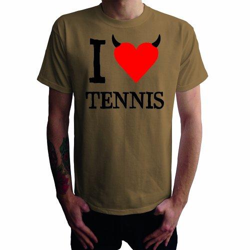 I don't love Tennis Herren T-Shirt Khaki