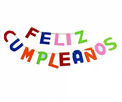 Cotigo-Guirnalda Letras Feliz cumpleaños de Fieltro,Decoración de Fiesta de Cumpleaños