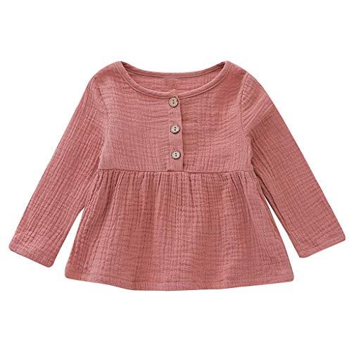 ung Baby Mädchen Neugeborenes Kleidung Sets Langarm Button Princess Kleid Sommerkleider Kleidung Outfits ()