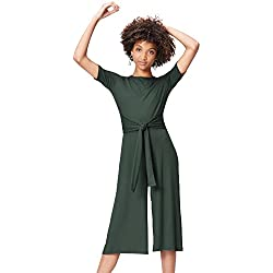 find. Rib Cropped Jumpsuit_18AMA040 Combinaison, Grün (Green), 48 (Taille Fabricant: XXX-Large)