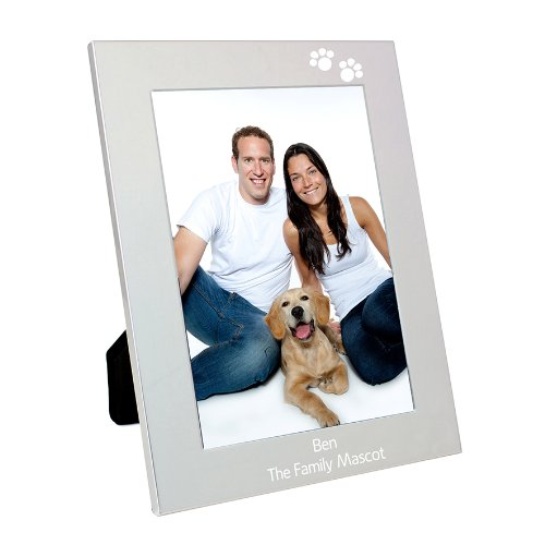 Personalised Paw Prints 7x5 Frame - FREE ENGRAVING - Perfect for Pet Lovers, Animal Lovers, Dog Owners, Cat Owners, Christmas and Birthdays