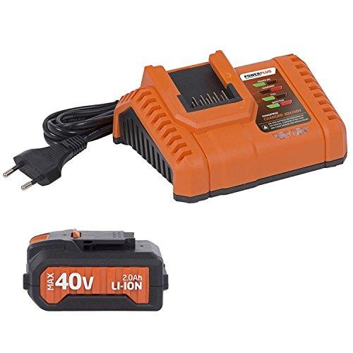Dual Power Akku 40 V Li-Ion Batterie 2.0 Ah + Ladegerät 20/40 V Ladestation