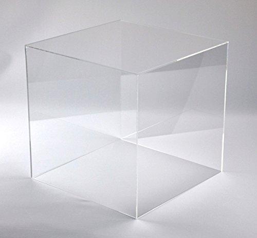 Hansen Schaukasten aus Acryl/Ausstellungshaube / Acrylhaube/Abdeckhaube / Showcase quadratisch, 400x400x200 mm