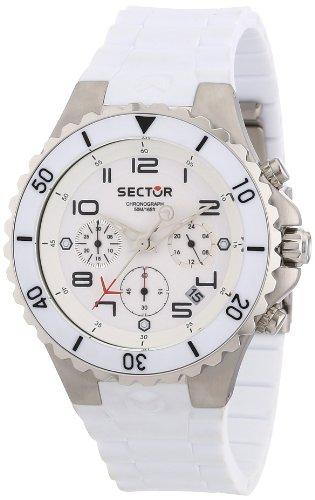 Sector R3271611245 175 - Reloj unisex de cuarzo, correa de silicona color blanco