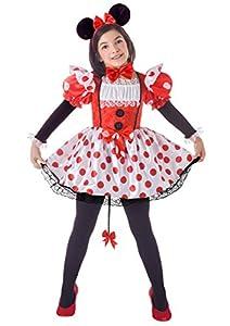 FIORI PAOLO 23044-Topina disfraz niña, 9-11Años, Rojo/Blanco