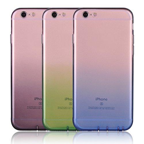 Infinite U Jewellery Dégradé Transparent Souple TPU Gel Case/Coque/Etui de Téléphone Mobile pour iPhone 6/6s (4.7 Pouces) Femme Colour-3