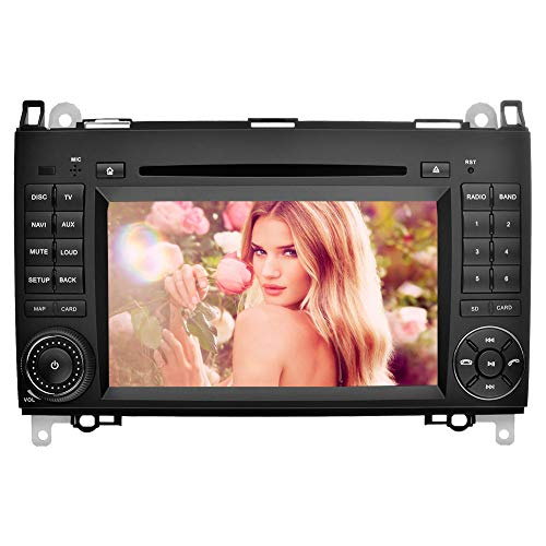 Ohok 7 Zoll 2 Din Touchscreen In Dash Autoradio Moniceiver DVD Player GPS Navigation mit kapazitivem Bildschirm für Mercedes-Benz A-Class W169/ B-Class W245 /Viano/Vito(W639)/Sprinter (Dvd-player In Dash)