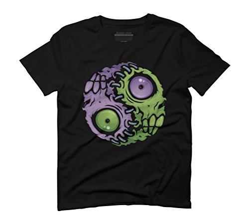 Zombie Yin-Yang Men's Graphic T-Shirt - Design By Humans Black