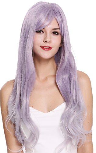 WIG ME UP - G8135T-2403T3904 Perücke Damenperücke sehr lang wellig Lila Violett ()