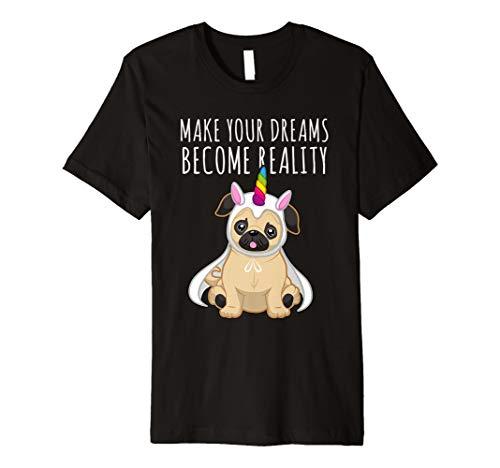 Funny Pug & T-Shirt Einhorn–Für Hundeliebhaber, Kinder & -