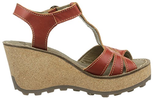 Fly London Gold, Damen Sandalen Rot (DEVIL RED 027)