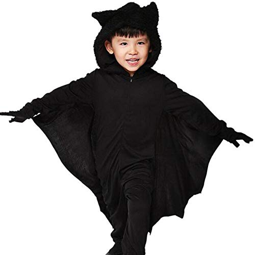 Code Kostüm Batman - QWE Halloween Kostüm Herren Jumpsuit Fledermaus Kostüm Karneval Ball Kostüm Adult Performance Kostüm