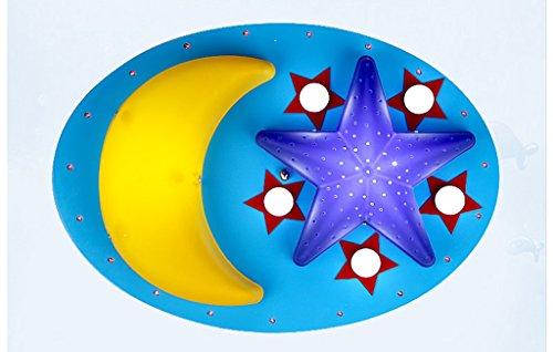 Preisvergleich Produktbild Decke Lampe Kinderzimmer Studie Schlafzimmer Holz Decke (ohne Lichtquelle) ( farbe : Blau )