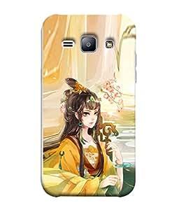 PrintVisa Designer Back Case Cover for Samsung Galaxy J1 (6) 2016 :: Samsung Galaxy J1 2016 Duos :: Samsung Galaxy J1 2016 J120F :: Samsung Galaxy Express 3 J120A :: Samsung Galaxy J1 2016 J120H J120M J120M J120T (Princess In Colourful Design)