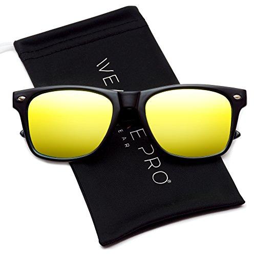 WearMe Pro - Polarisierende Verspiegelte Reflektierende Bunte Große Flachgläser Sonnenbrille im...