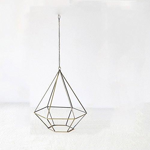 LQQGXL Artisanat d'ornement géométrique cadre fer Vintage Support de fleurs (taille : 24 * 20cm)