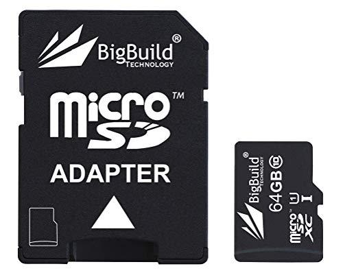 eMemoryCards 64GB Ultra schnelle 80MB/s Klasse 10 MicroSD Speicherkarte für Nikon 1 J4 Camera | SD Adapter ist im Lieferumfang enthalten (Nikon J4 Für Speicherkarte)
