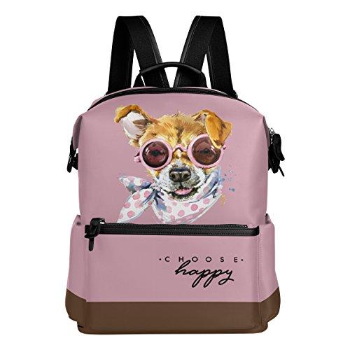 Süßer Hund Print Spielzeug Pudel Puppy Pet Animal Pink leicht wasserdicht Polyester Rucksack Tagesrucksack Schultertasche College Rucksack Schultasche Buch Tasche Travel Day Bag (Animal-print Laptop-tasche)