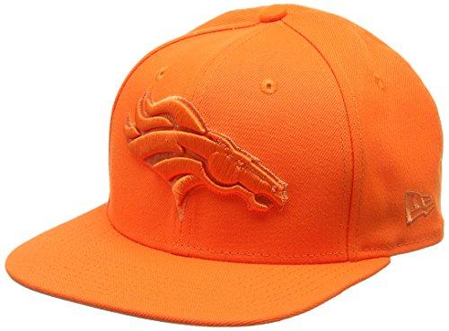 New Era Herren 9FIFTY Snapback Metallic Mark Denver Broncos NFL Cap, Orange