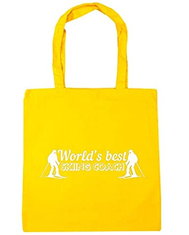 HippoWarehouse World's best skiing coach Tote Shopping Gym Beach Bag