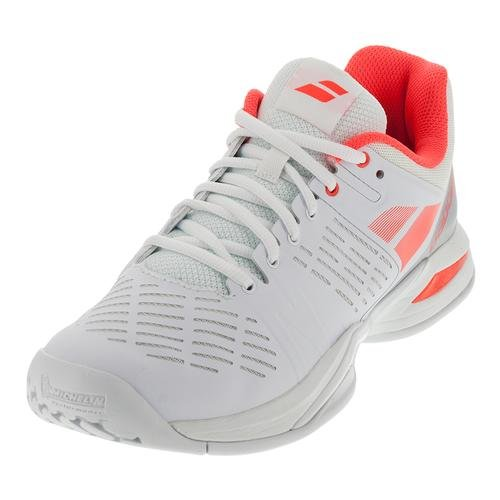 BABOLAT – Propulse Team All Court Chaussures de Tennis Femme (Blanc/Rouge) Weiß