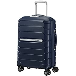SAMSONITE Flux - Spinner 55/20 Expandable Bagage cabine, 55 cm, 44 liters, Bleu (Navy Bleu)