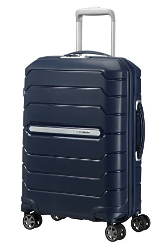 Samsonite Flux Spinner 55/20 Expandable Bagaglio a Mano, S (55cm-44L), Blu (Navy Blue)
