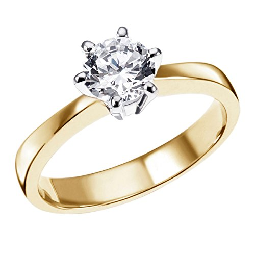 Goldmaid Anello da Donna, Oro Bicolore 585, Diamante Incastonato, Brillante, Misura 56 (17.8)