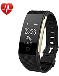 Wasserdichte Pulsuhr, Fahrrad Tracker Bluetooth Smart Armband-Uhr, Fitness-Tracker mit Schlaf-Überwachung, Kalorien / Radfahren, Track Synchronisierungs-Erinnerung, Schrittzähler, Pedometer für Android und iPhone Smartphones (SW328).