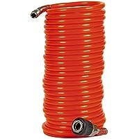 Einhell 4139420 - Tubo en espiral para compresor, 8 m, 8 bar, diámetro 6 mm, color rojo
