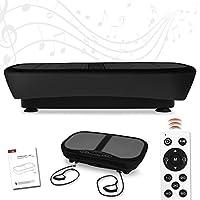 Preisvergleich für Letix Sports Profi Vibrationsplatte mit 3D Wipp-Vibration + Bluetooth Musik inkl. Lautsprecher, große Standfläche, 2 Kraftvolle Motoren + Trainingsbänder und Fernbedienung