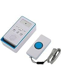 Fdit Botón de Llamada de Alerta Inalámbrica Transmisor y Receptor para Pacientes Ancianos Mujeres…