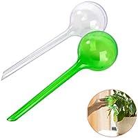 Herramienta de riego planta grande automático interior bolas de autorriego, diseño de flores verde claro 2 piezas