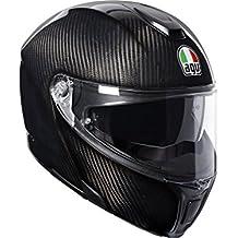 AGV Sports - Casco modular de motocicleta con apertura frontal – carbono brillante