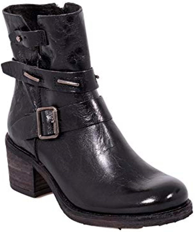 Felmini - Chaussures Femme - - - Tomber en Amour avec Giani B285 - Bottes à Fermeture éclair - Cuir Véritable - NoirB07G4938GJParent ed7ad5