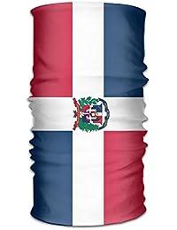 Pengyong República Dominicana Bandera Unisex Moda Secado Rápido de Microfibra Tocado Exterior Magic Bufanda Cuello Bufanda