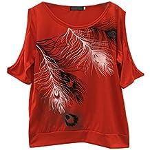 Keepwin Camisetas Cortas Manga Corta Mujer Estampadas Camisetas Anchas  Remeras Camisa Para Mujer Deporte Verano Poleras 836c8e393c2b0