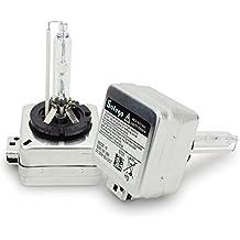 Safego 2x D1S Lámpara de Xenón de Faros Bombilla HID Xenon luz luces de Coche para Coches Blanco AC 12V 35W 6000K