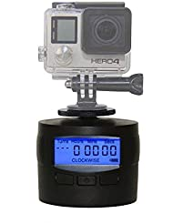 TurnsPro - Time lapse Camera Mount - Panning Rotating 360 for GoPro DSLR iPhone, motorisierter Panoramakopf für Panaormabilder