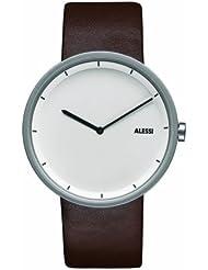 Alessi AL13001 - Reloj de mujer de cuarzo, correa de piel color marrón