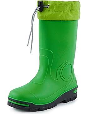 Ladeheid Botas de Agua Goma Zapatos de Seguridad Unisex Niños LARB014