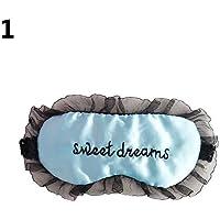Momangel Schlafmaske mit Stickerei-Buchstaben, bequem, Spitze, Augenmaske, Augenmaske preisvergleich bei billige-tabletten.eu