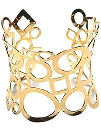 Nine tail fox Pulsera de la aleación redonda cuadrada hueco de la manera de las mujeres Brazalete de la personalidad de la plata del oro